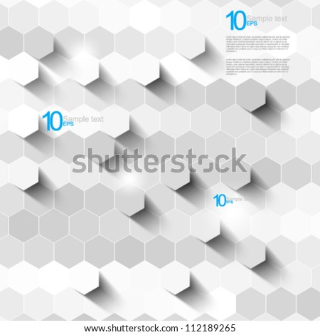 eps10 vector hexagon pattern texture illustration - stock vector