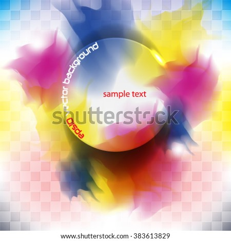 eps10 vector illustration abstract colorful ink splat concept party background  - stock vector