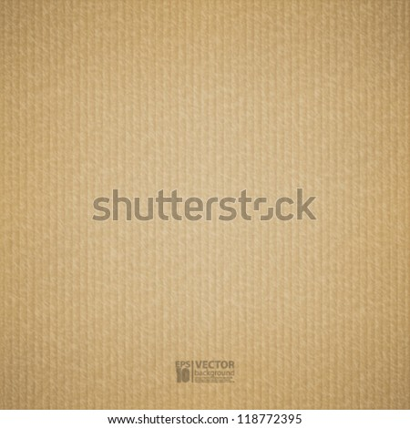 eps10 vector illustration abstract realistic cardboard background texture - stock vector