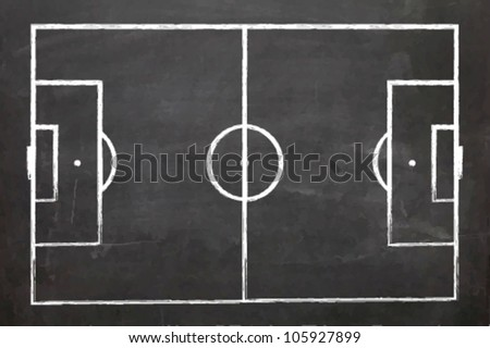 EPS10 Vector Illustration of a Blackboard with a Football field - stock vector
