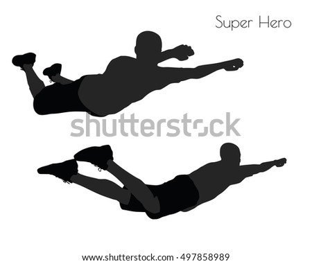 EPS 10 vector illustration of a man in Super Hero pose on white background