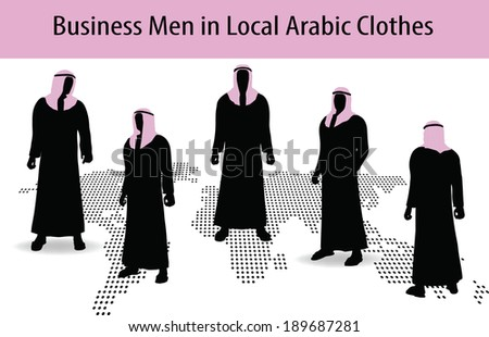 EPS 10 Vector Illustration of man in middle east style clothing dress - stock vector
