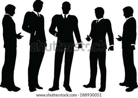 EPS 10 Vector illustration of silhouette of a business person in standing pose
