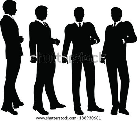 EPS 10 Vector illustration of silhouette of a business person in standing pose - stock vector