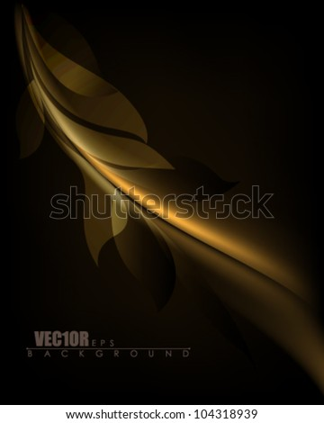 eps10 vector isolated golden foliage design - stock vector