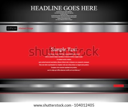 Eps10 Vector Metallic Header Concept Background Design - stock vector