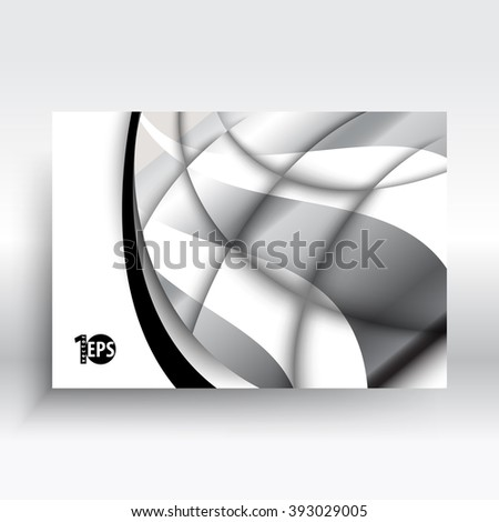 eps10 vector metallic wave elements flat layout material corporate background design - stock vector