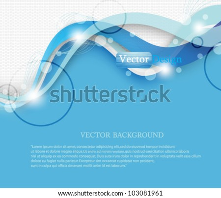 Eps10 Vector Modern Abstract Business Background Design - stock vector