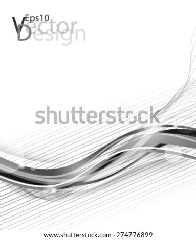 Eps10 Vector Modern Chrome concept for your business in the future - stock vector