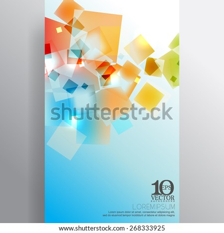 eps10 vector multicolor transparent overlapping geometric squares background design - stock vector