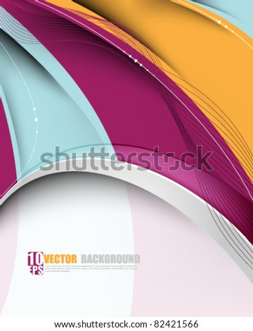 eps10 vector multicolor wave abstract background - stock vector