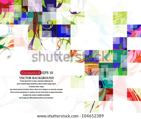 Eps10 Vector Multicolored Cube Background Design - stock vector
