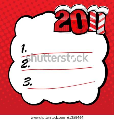 EPS10 vector new 2011 year wish list - stock vector