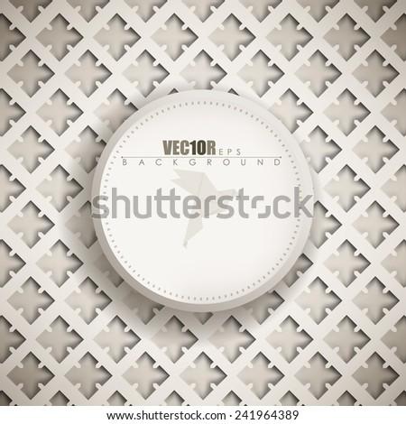 eps10 vector origami pattern vintage old plate frame background design - stock vector