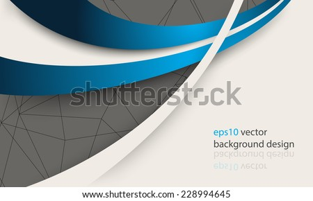 eps10 vector overlapping blue lines elements modern business background - stock vector