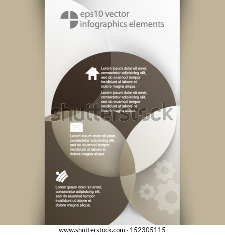 eps10 vector overlapping geometric shapes infographics background - stock vector
