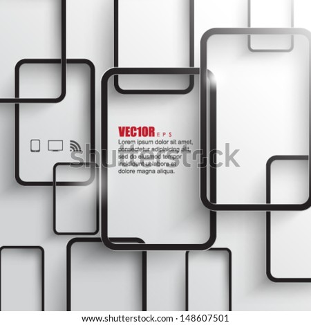 eps10 vector overlapping rectangle infographics design - stock vector