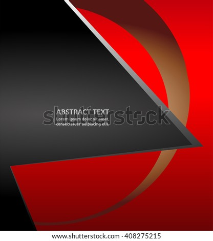eps10 vector overlapping red waves elements corporate business background illustration  - stock vector