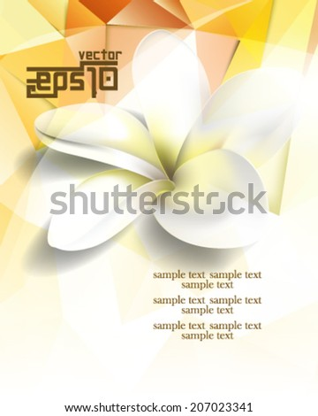 eps10 vector polygon shapes flower concept background - stock vector