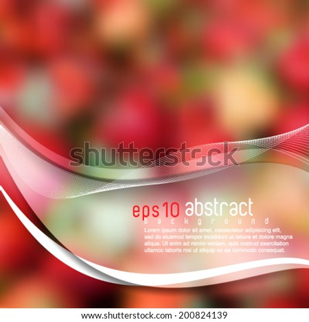 eps10 vector realistic blurred strawberry background - stock vector