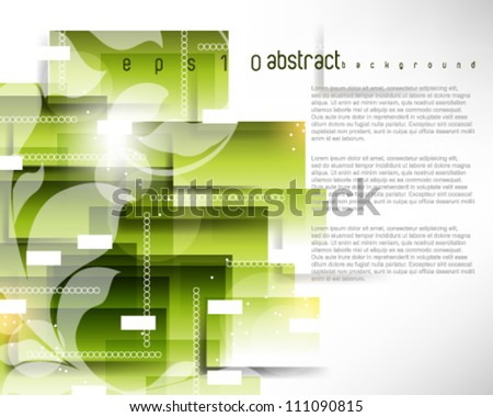 eps10 vector rectangular pattern foliage elements background - stock vector