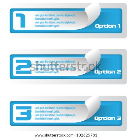eps10 vector set of numbered banner stickers concept design - stock vector