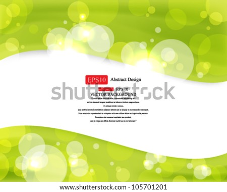 Eps10 vector Shiny Green Background Design - stock vector