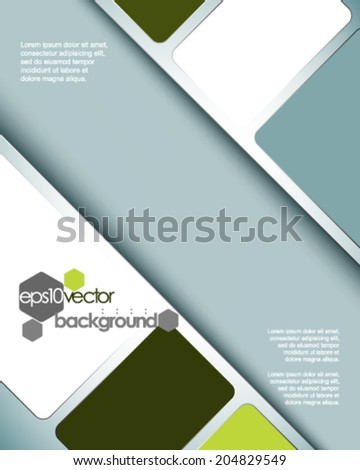 eps10 vector spacious abstract concept background - stock vector
