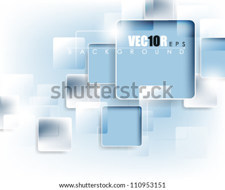eps10 vector square frame abstract deign - stock vector