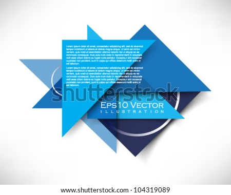 eps10 vector triangle shape banner illustration - stock vector