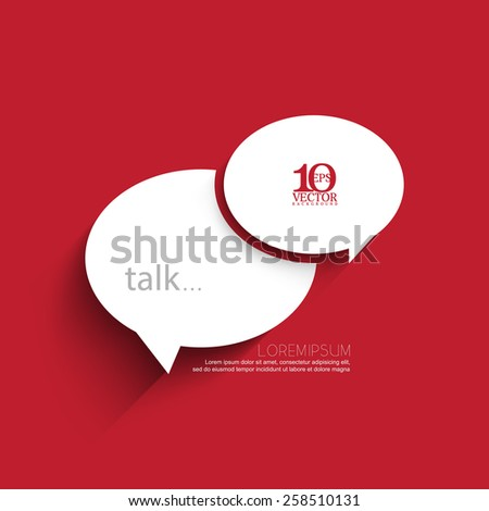 eps10 vector white overlapping chat icon concept illustration - stock vector