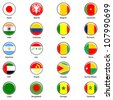 EPS10 Vector World Flag Buttons - Pack 2 - stock photo