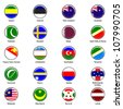 EPS10 Vector World Flag Buttons - Pack 7 - stock photo