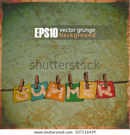 EPS10 vintage background with banks on the rope - stock vector
