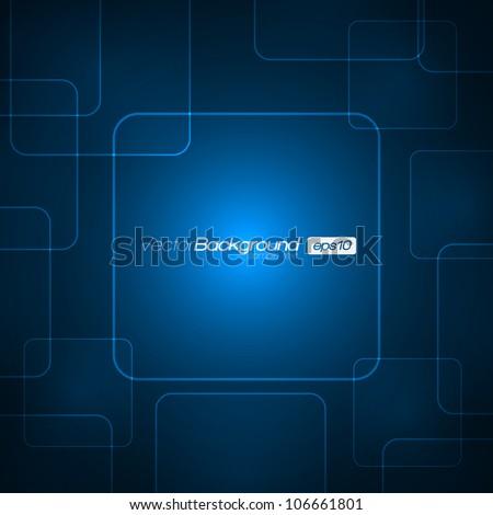 EPS10 - Virtual Technology Vector Background - stock vector