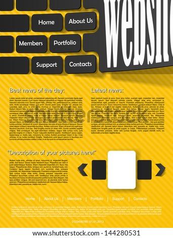 eps, website design template - stock vector