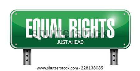 equal rights sign illustration design over a white background - stock vector