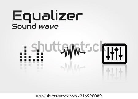 Equalizer - stock vector