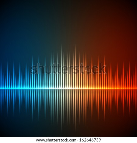 Equalizer background. Music wave. EPS10 vector - stock vector