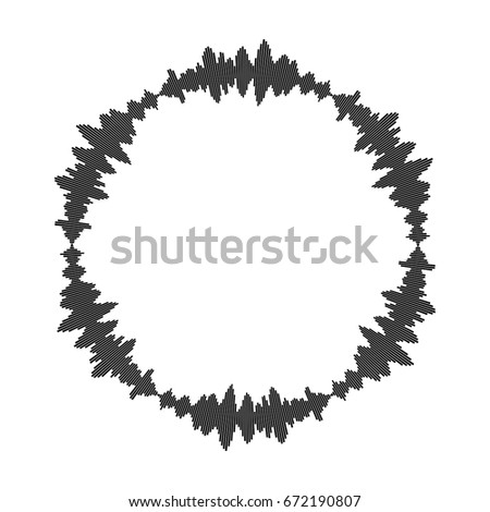 Equalizer Music Sound Wave Circle Vector Symbol Icon Design Beautiful Illustration Isolated On White Background