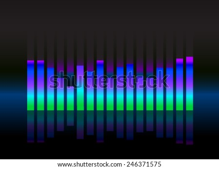 equalizer sound wave illustration vector - stock vector