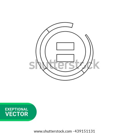 Equally sign line icon - stock vector