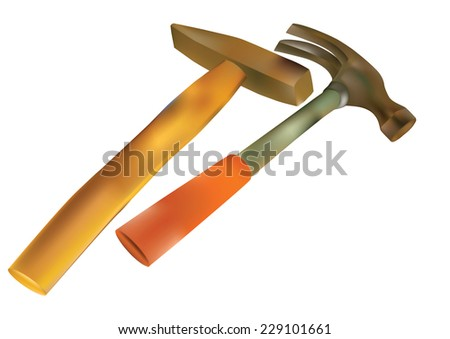 equipment hammer isolated on white background