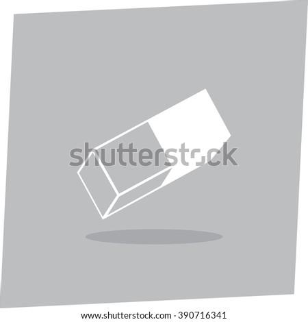Eraser vector icon - stock vector