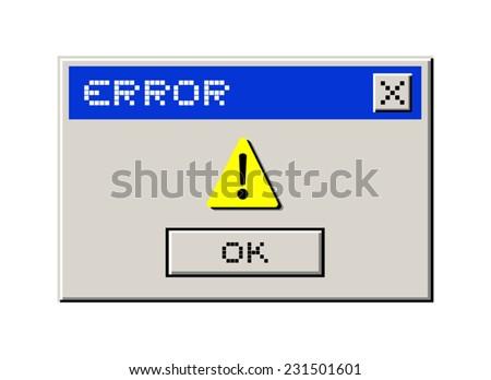 Error computer message - stock vector
