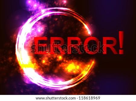 error message on network failure. - stock vector