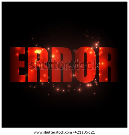 Error sign - stock vector