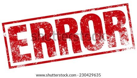 error stamp - stock vector