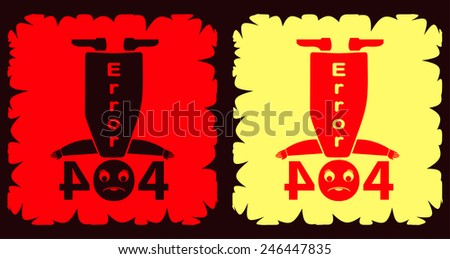 Error 404 web page illustration - stock vector