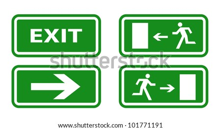 Escape boarders collection isolated on white - stock vector
